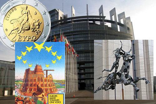 Image result for picture of woman riding the beast at eu parliament